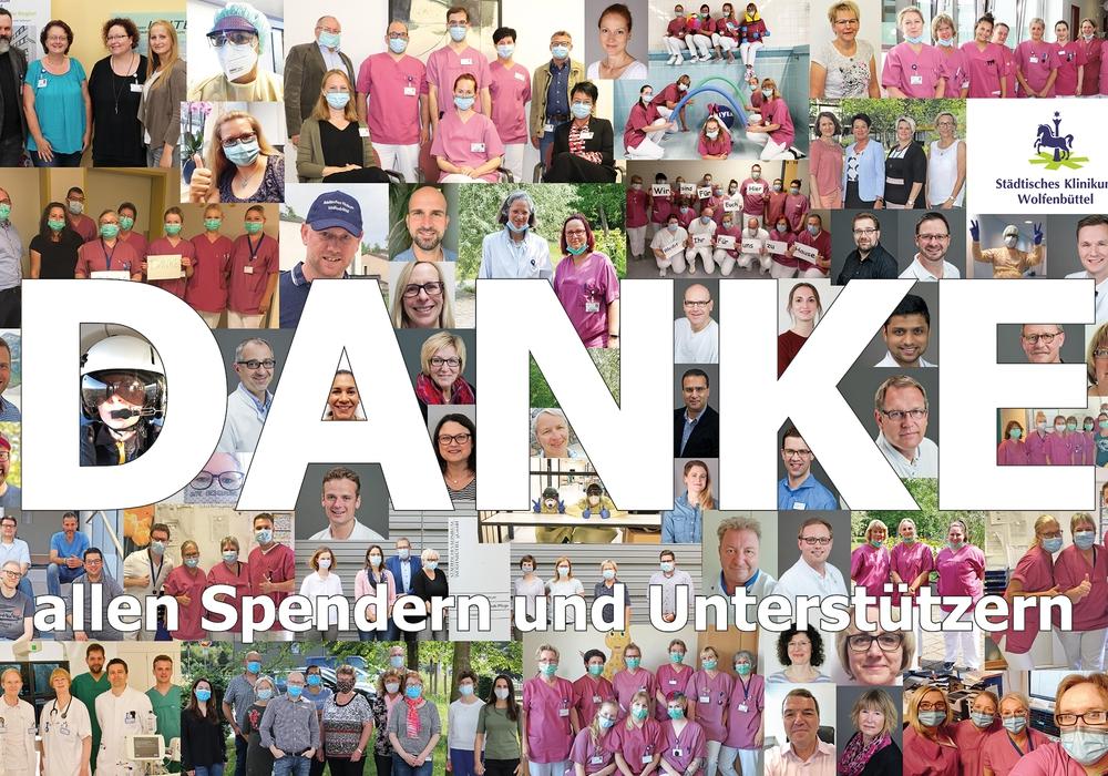 Die Mitarbeiterinnen und Mitarbeiter des Städtischen Klinikums bedanken sich bei allen Spendern und Unterstützern (einige Fotos sind vor der Corona-Pandemie entstanden).