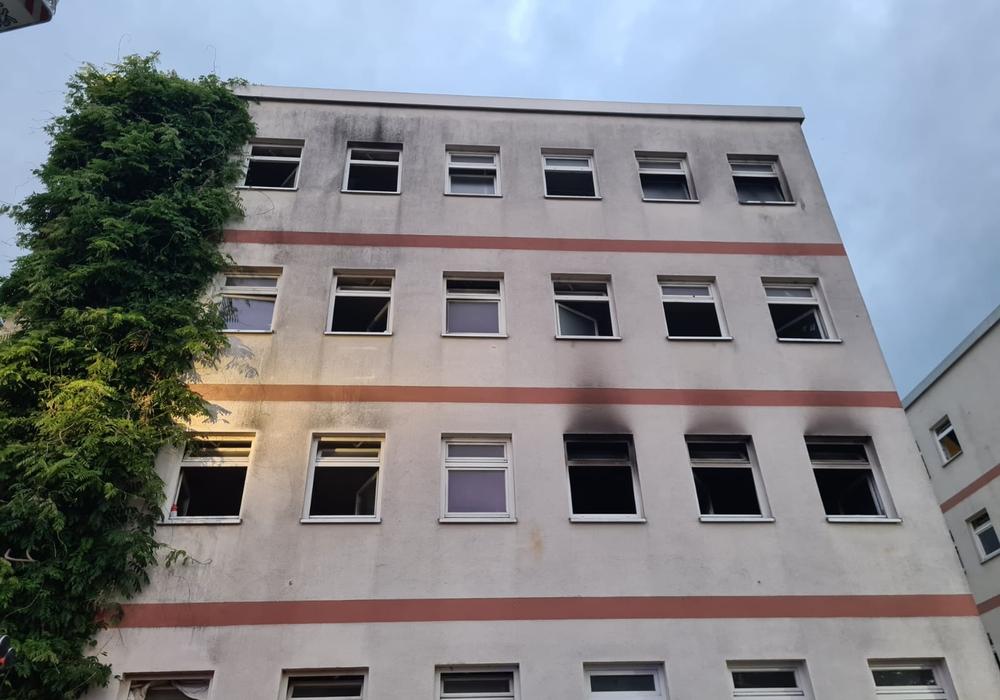 Das Wohnheim wurde bei einem Feuer im Juli beschädigt. Mit der Brandschadensanierung sollen gleichzeitig Umbauten erfolgen.