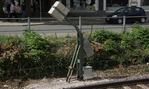 Sind nur vorübergehend da. Eines der beiden auffälligen Objekte zwischen Bahnhof und Achtermann.