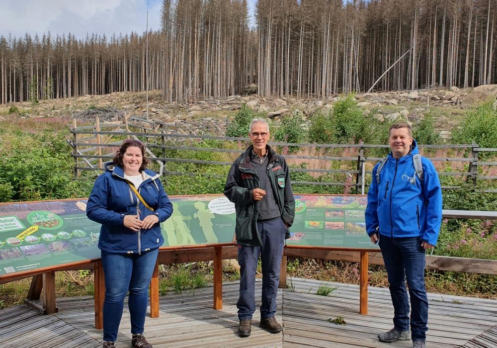 Lena Düpont und Sven Schulz waren zu Besuch im Harz. Sie wurden von Andreas Pusch geführt.