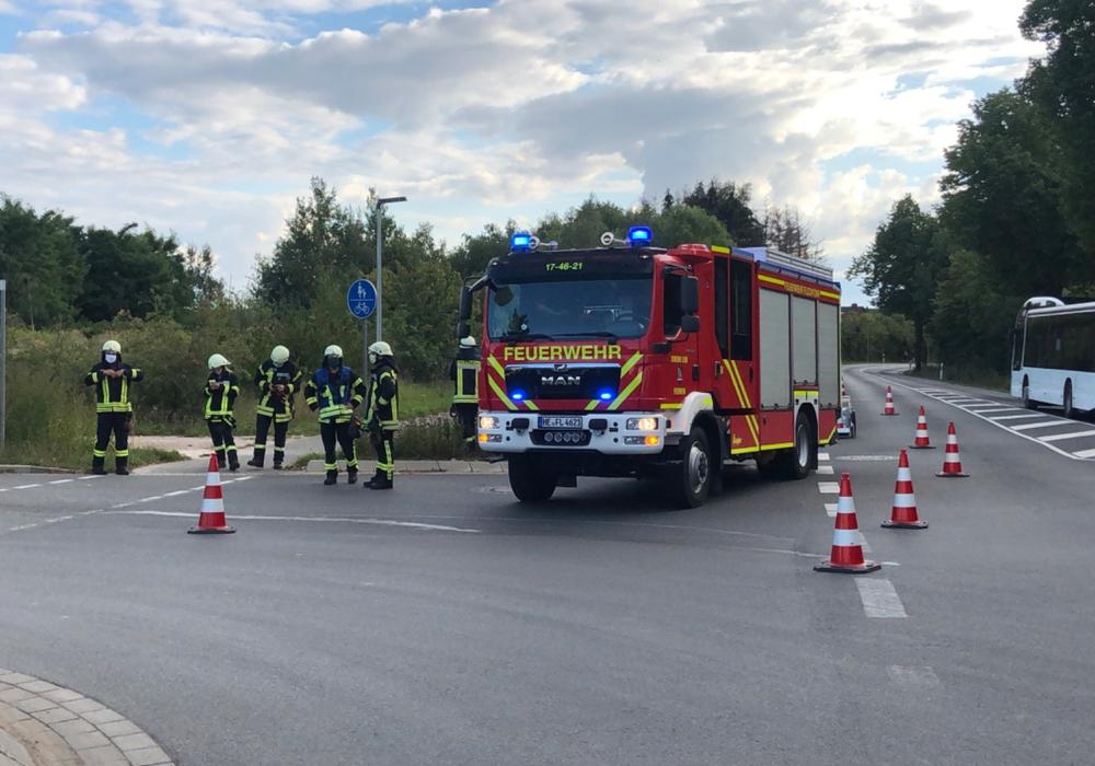 Erneut ist die Feuerwehr Flechtorf auf der Kreuzung an der K 33 im Einsatz.
