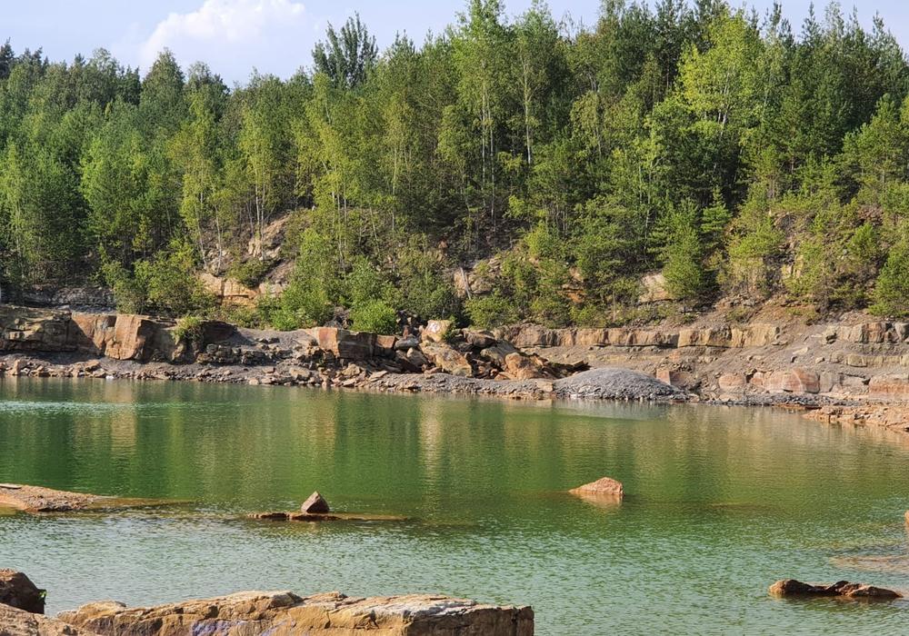 """Am ehemaligen Steinbruch """"Körnersee"""" ereignete sich heute ein tragischer Badeunfall."""