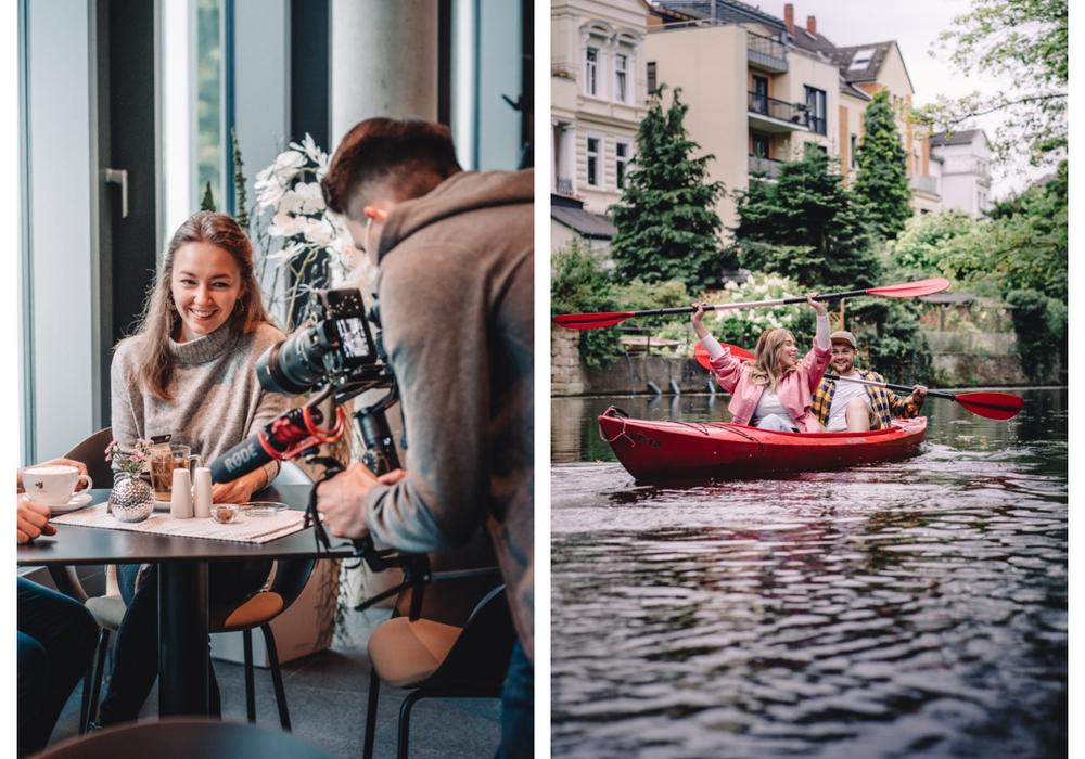 Die Erlebnisse in der Löwenstadt sind vielfältig, ob Cafébesuch oder Okerfahrt.