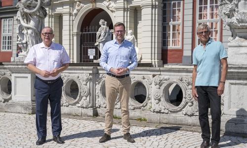 Andreas Meißler (links), Adrian Haack (mitte) und Christoph Helm wollen sich für eine Anton-Wilhelm-Amo-Straße in Berlin einsetzen.