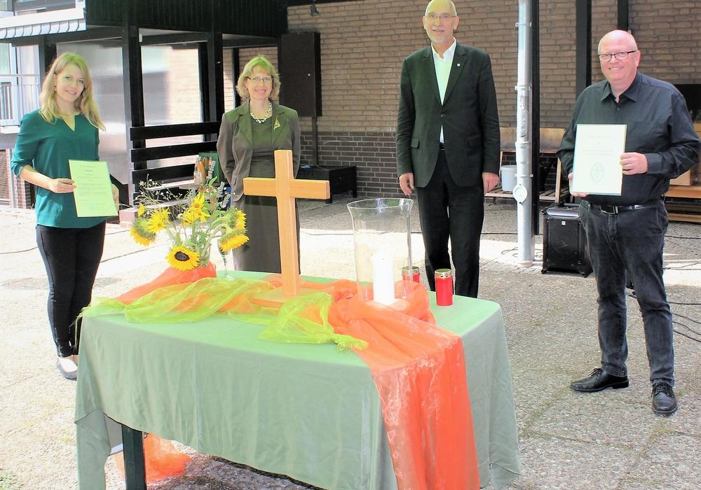Von links: Lektorin Ariane Holze, Pastorin Anja Jäkel, Superintendet Dr. Volker Menke und Pastor Markus Lenz.