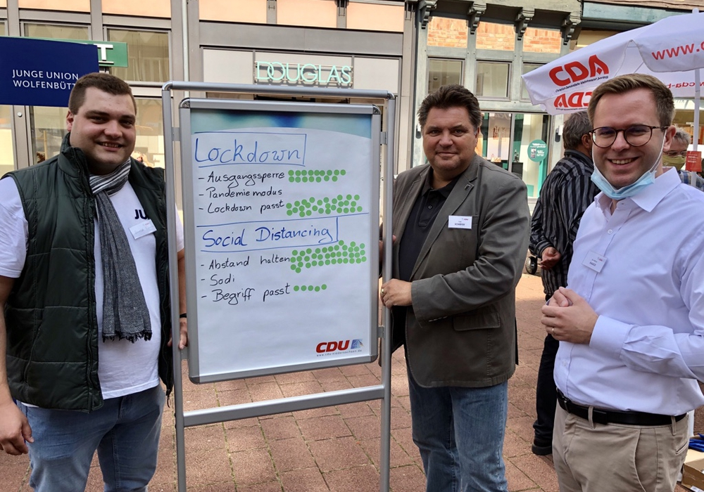 Daniel Eimers, Uwe Schäfer und Adrian Haack (v. li.).