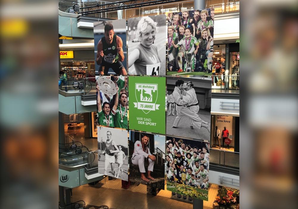 Die VfL-Collage in der City-Galerie.