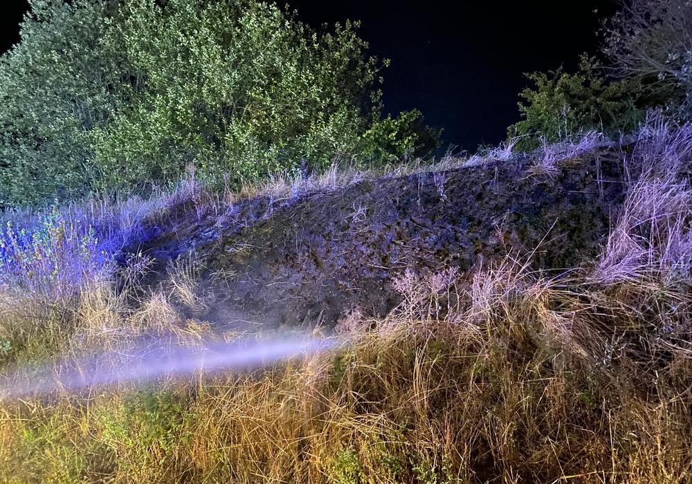 Das Feuer wurde durch zwei Leitungen sowie einem Löschrucksack gelöscht.