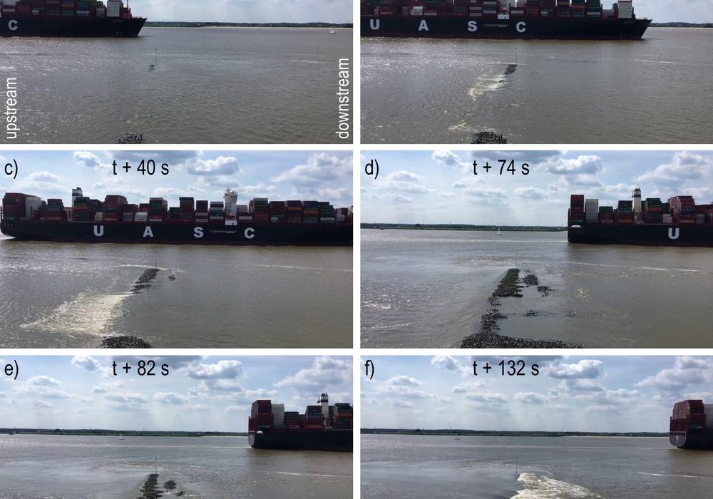 Durch Schiffswellen können Uferbauwerke beschädigt werden.