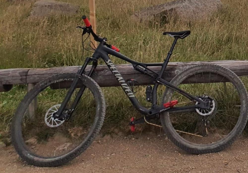 Dieses Fahrrad wurde gestohlen.