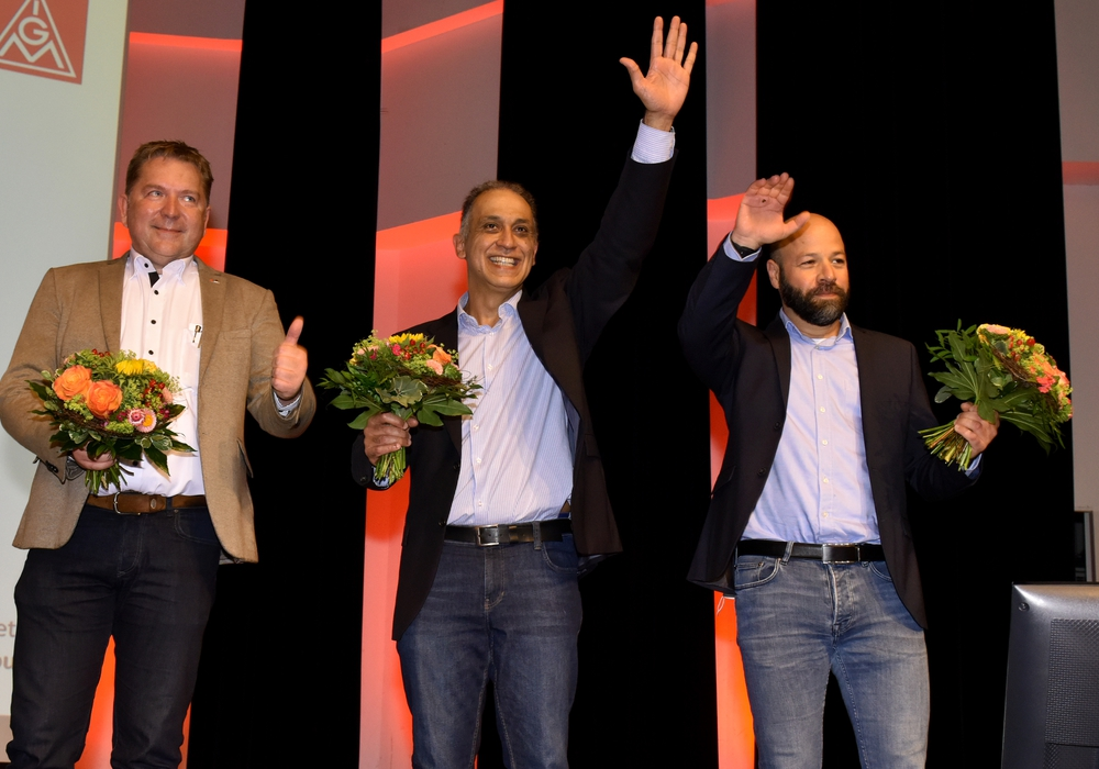 Von links: Matthias Disterheft Geschäftsführer und Kassierer, Flavio Benites Erster Bevollmächtigter und Geschäftsführer und Christian Matzedda Zweiter Bevollmächtigter und Geschäftsführer.