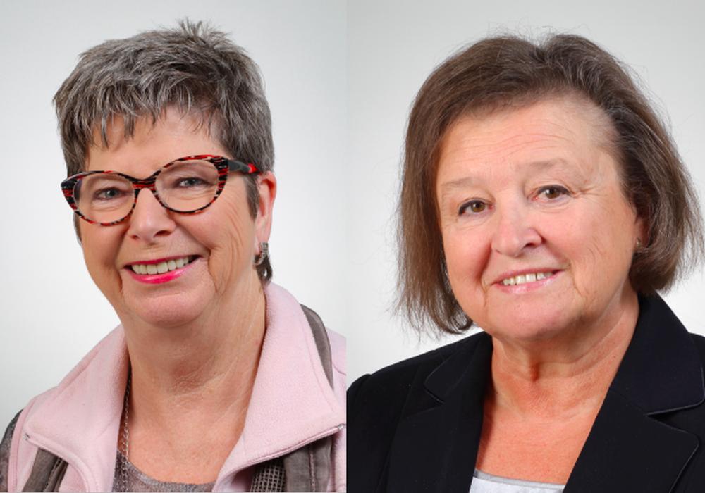 Angelika Jahns und  Ludmilla Neuwirth zur Übernahme des Sozialkaufhauses durch die WBG.