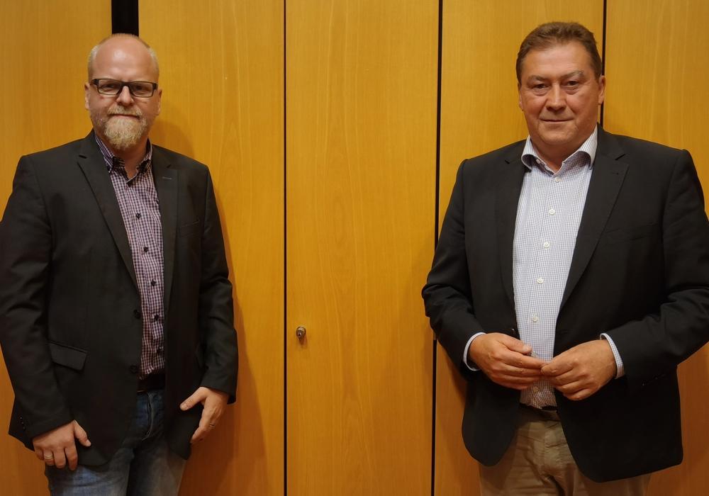 Gemeindeverbandsvorsitzender der CDU Cremlingen Tobias Breske (li.) und CDU/FDP Gruppenvorsitzender Uwe Lagosky im Rat der Gemeinde Cremlingen.