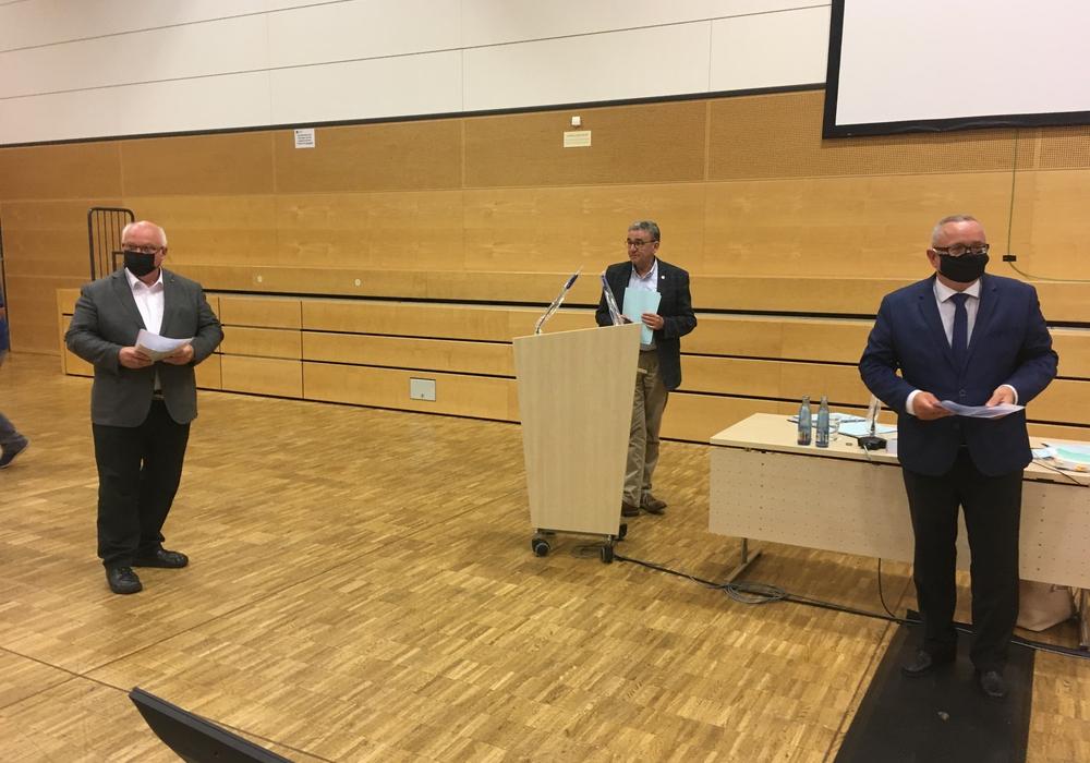 Thomas Pink hat in der Ratssitzung Andreas Meißler und Wolfgang Gürtler in den Rat der Stadt berufen.