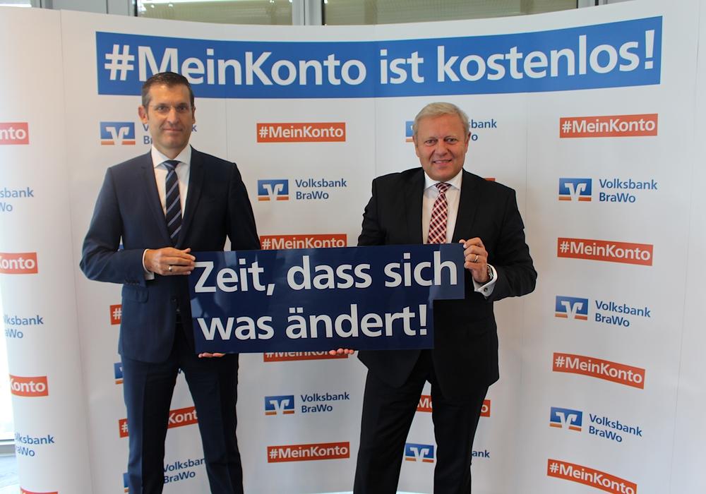 Vorstandsmitglied Patrick Pietschmann (li.) und Vorstandsvorsitzender Jürgen Brinkmann.