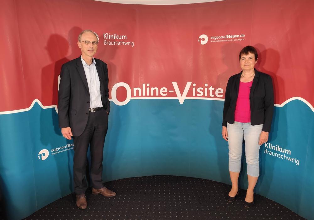 Prof. Dr. Jürgen Krauter und Dr. Frauke Rösick standen Rede und Antwort.