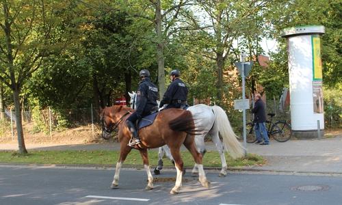 Auch beim vergangenen AfD-Parteitag in Braunschweig war die Reiterstaffel im Einsatz.