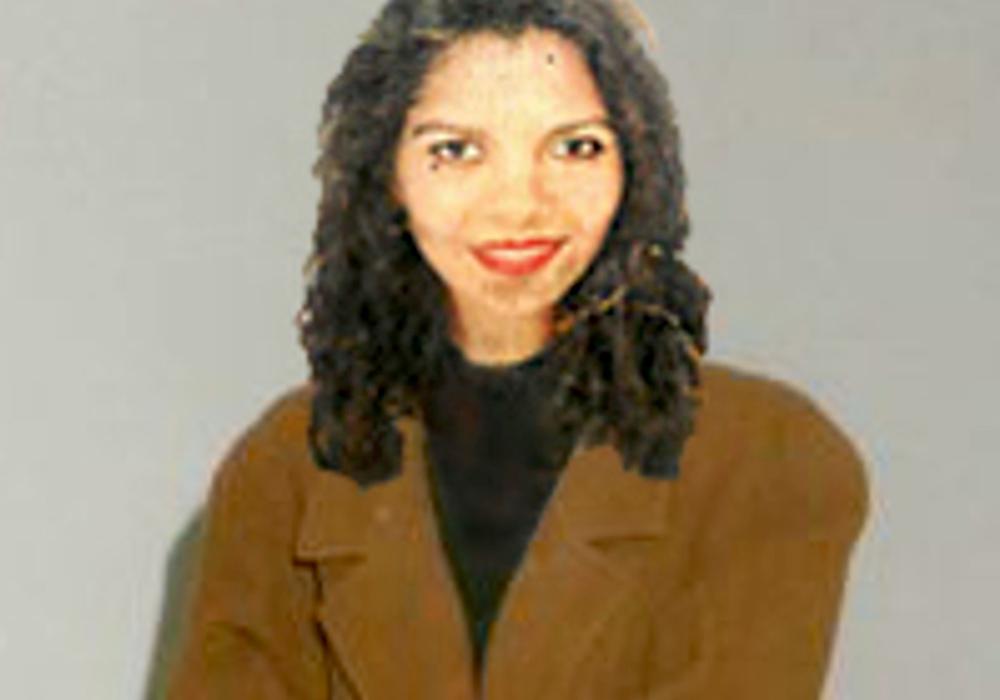 Fotomontage mit Bild des Opfers im Mantel.