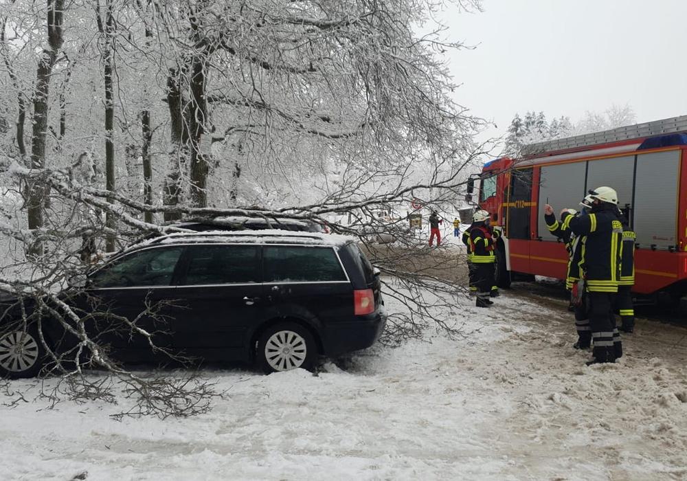 """Am Parkplatz """"Unter den Eichen"""" wurden zwei Autos beschädigt."""