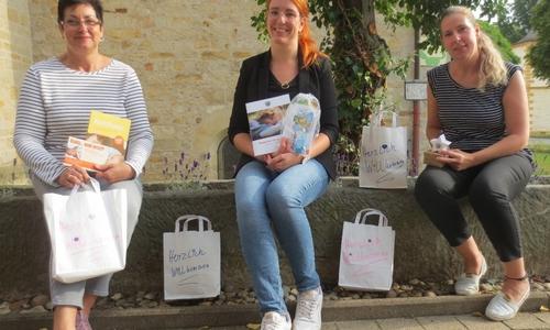 (v.l.): Silke Stoffels-Alder (Fachkraft  Frühe  Hilfen), Carina Weferling (Netzwerkkoordinatorin Frühe Hilfen) und Nicole Falk (Fachkraft Frühe Hilfen).