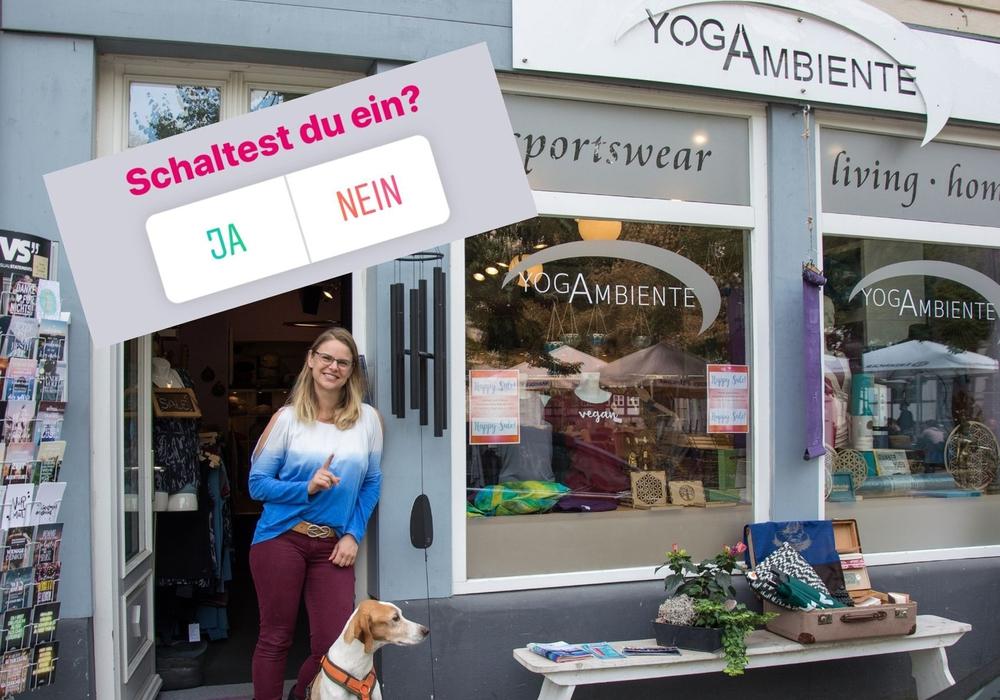 """Live dazuschalten und inspirieren lassen: Mit der Instagram-Serie """"My locals BS"""" gehen Einzelhändlerinnen und Einzelhändler auf dem Account """"die_loewenstadt"""" live auf Sendung und stellen ihr Geschäft, ihr Angebot und ihre digitalen Services vor. Den Anfang machte Yoga-Ambiente am Mittwoch."""