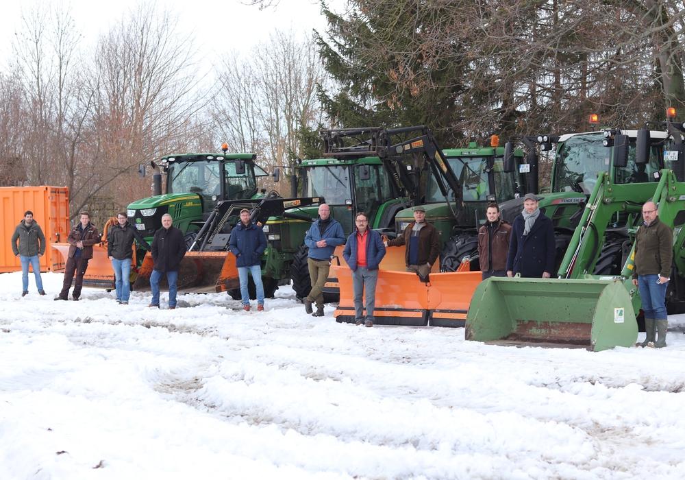 Der Denkter Bürgermeister Guido Bartschaft bedankt sich bei den Landwirten.