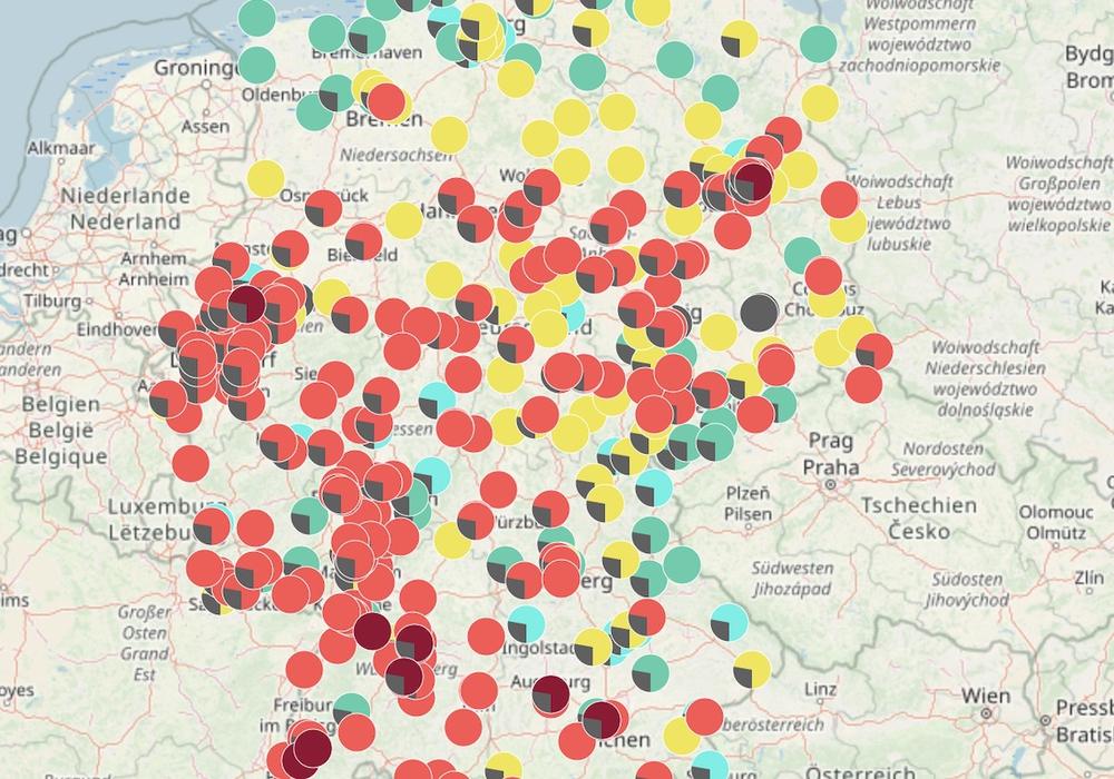 Messgeräte zeigen an: die Luftqualität ist in weiten Teilen Deutschlands schlecht.