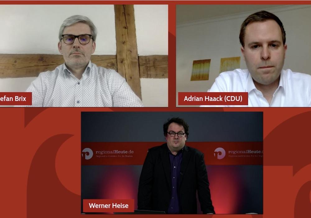 Stefan Brix und Adrian Haack im Gespräch mit regionalHeute.de Chefredakteur Werner Heise.
