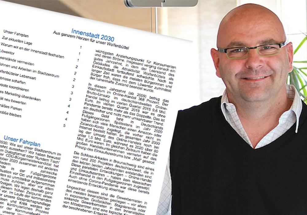 """Das BuW erhebt Plagiatsvorwürfe gegen Marc Angerstein und das Strategiepapier der CDU zur """"Innenstadt 2030""""."""