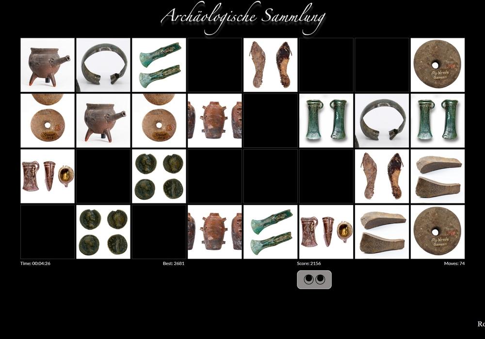 Testen Sie Ihre Konzentration im Online-Memory mit archäologischen Funden aus Gifhorn.