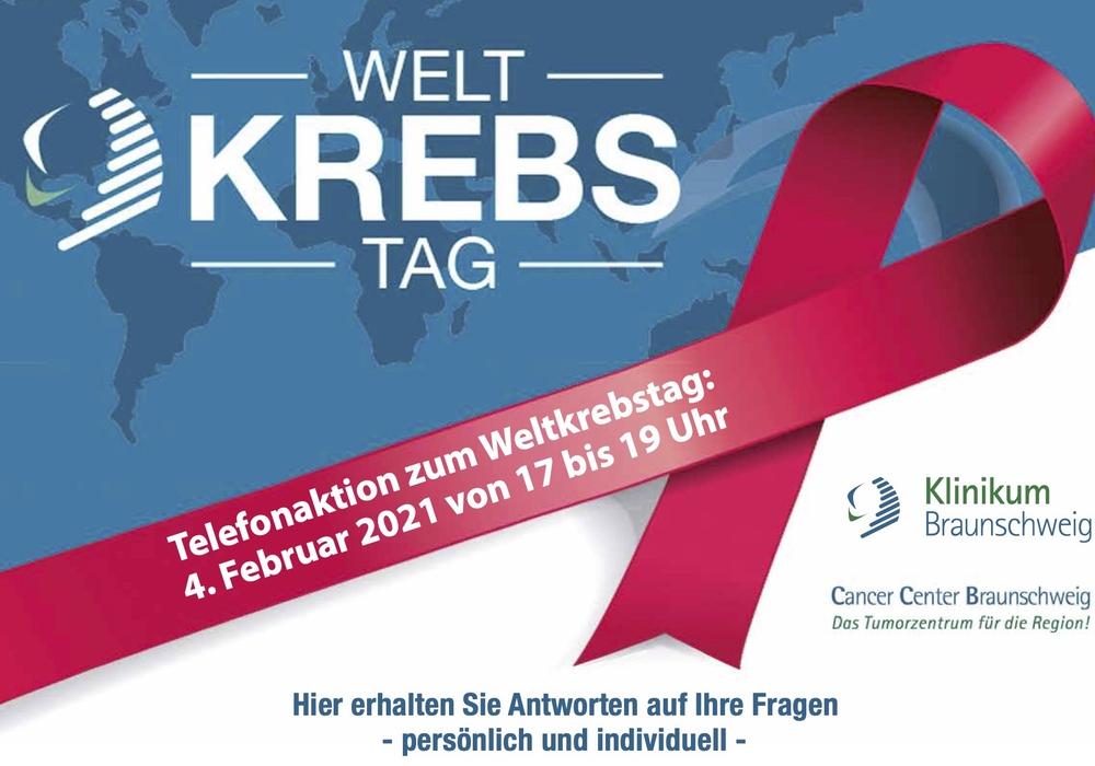Im Cancer Center Braunschweig wird eine Telefonaktion zum Weltkrebstag angeboten.