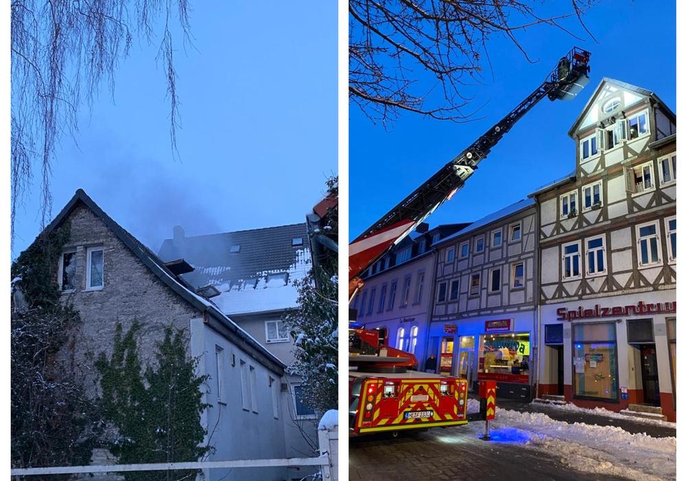 Am späten Sonntagnachmittag musste die Feuerwehr einen Brand in der Innenstadt von Königslutter löschen.