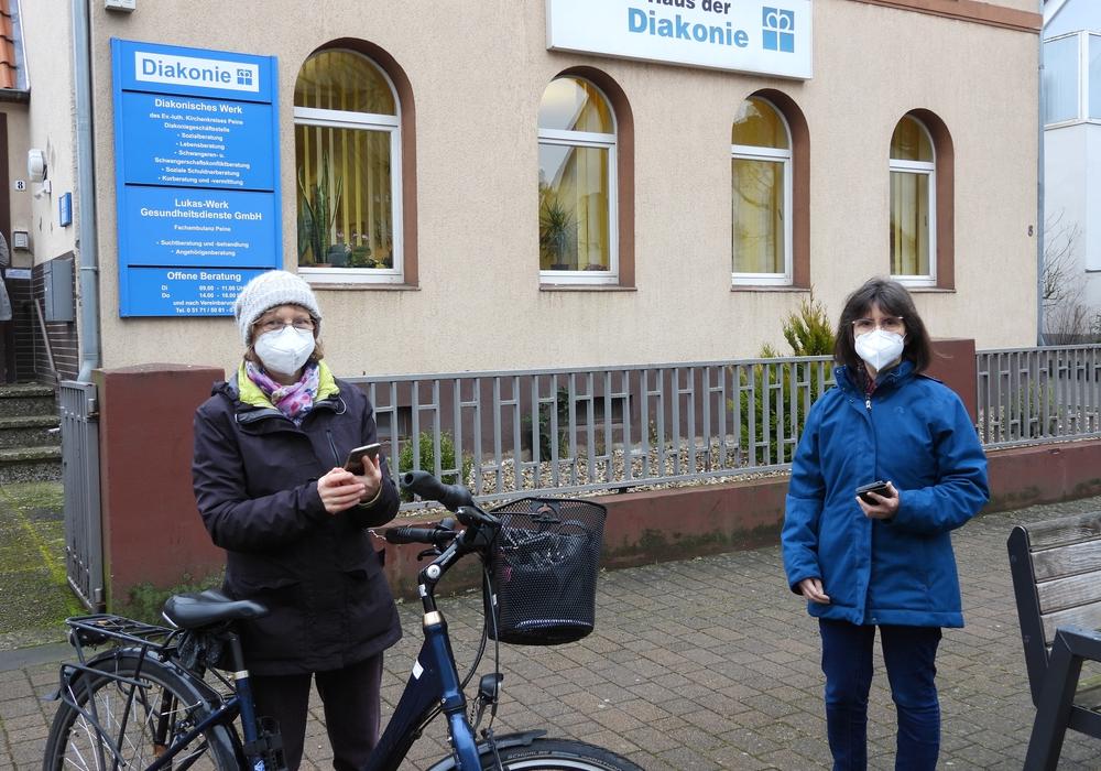 Anja Jäkel links im Bild und Bettina Mai haben den Actionbound mitgestaltet.