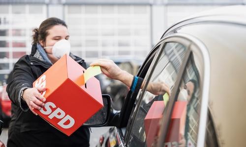 Die Drive-In-Wahl: Die Antwort der SPD auf die Pandemielage.