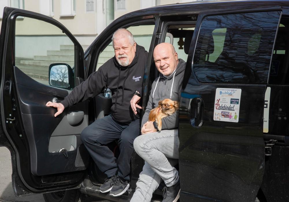 Peter König (Unbehindert gUG) aus Goslar (li.) und Patrick Kliefoth (ShakenKids e.V.) aus Hamburg arbeiten zusammen an zwei Projekten im Harz.