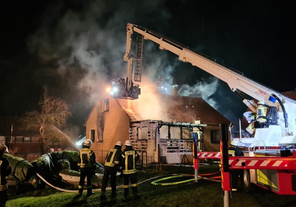 In Schöppenstedt brannte es in der Nacht zu Montag