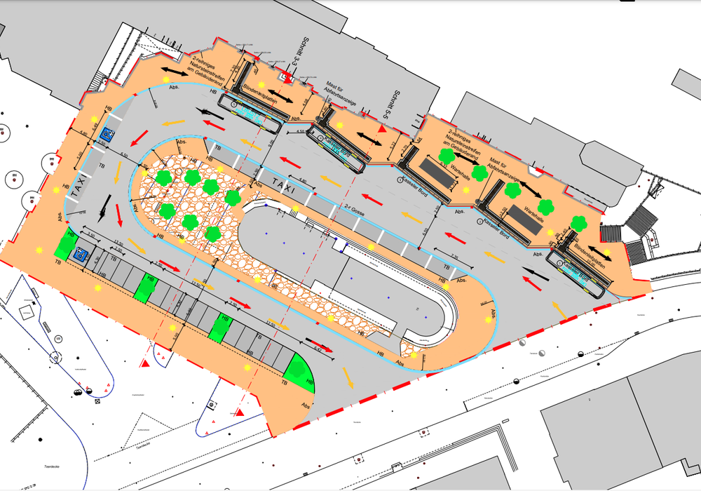 So soll der Bahnhofsvorplatz künftig aufgeteilt sein.