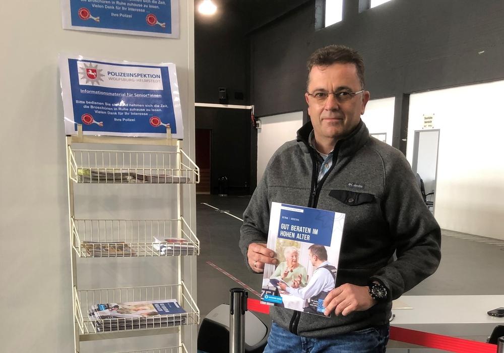 Mario Dedolf im Impfzentrum.