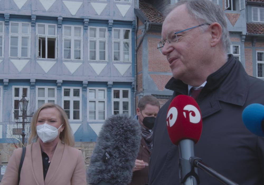 Ministerpräsident Stephan Weil bei einem Besuch in Wolfenbüttel. (Archivbild)