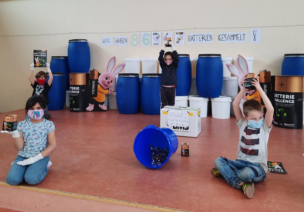 Die Zwischenstände der Sammlung wurden von den Kindern präsentiert.