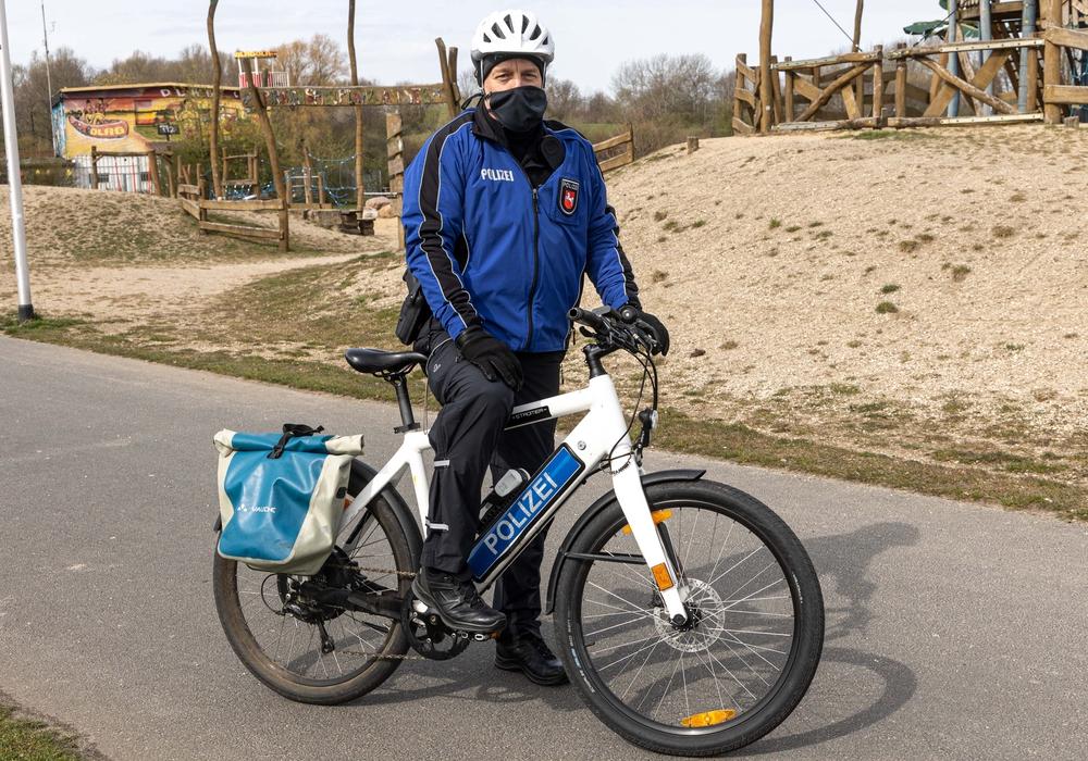 Die Polizei in Salzgitter ist auch auf dem Fahrrad unterwegs.