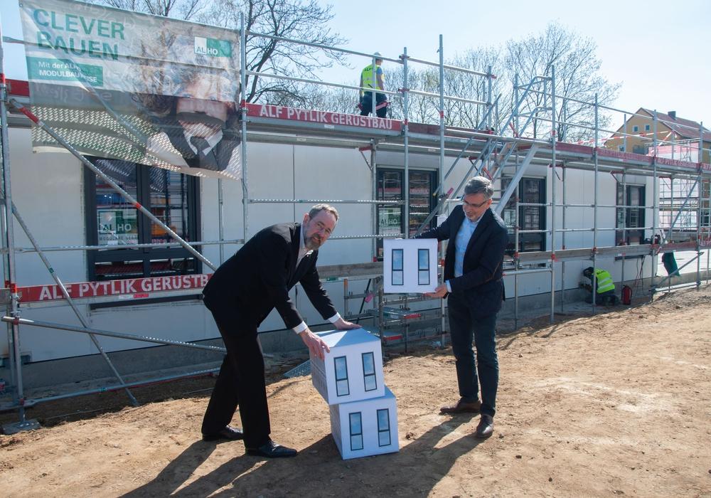 Dank Modulbauweise soll in Braunschweig bis September ein neues Studentenwohnheim entstehen.