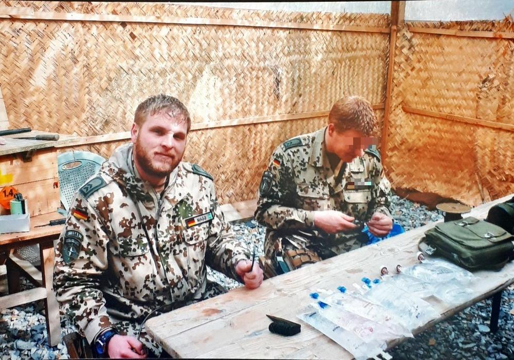 Marco Graf 2009 in Afghanistan. Im Einsatz sei man ständig unter Anspannung. Das mulmige Gefühl fahre zu jeder Zeit mit.