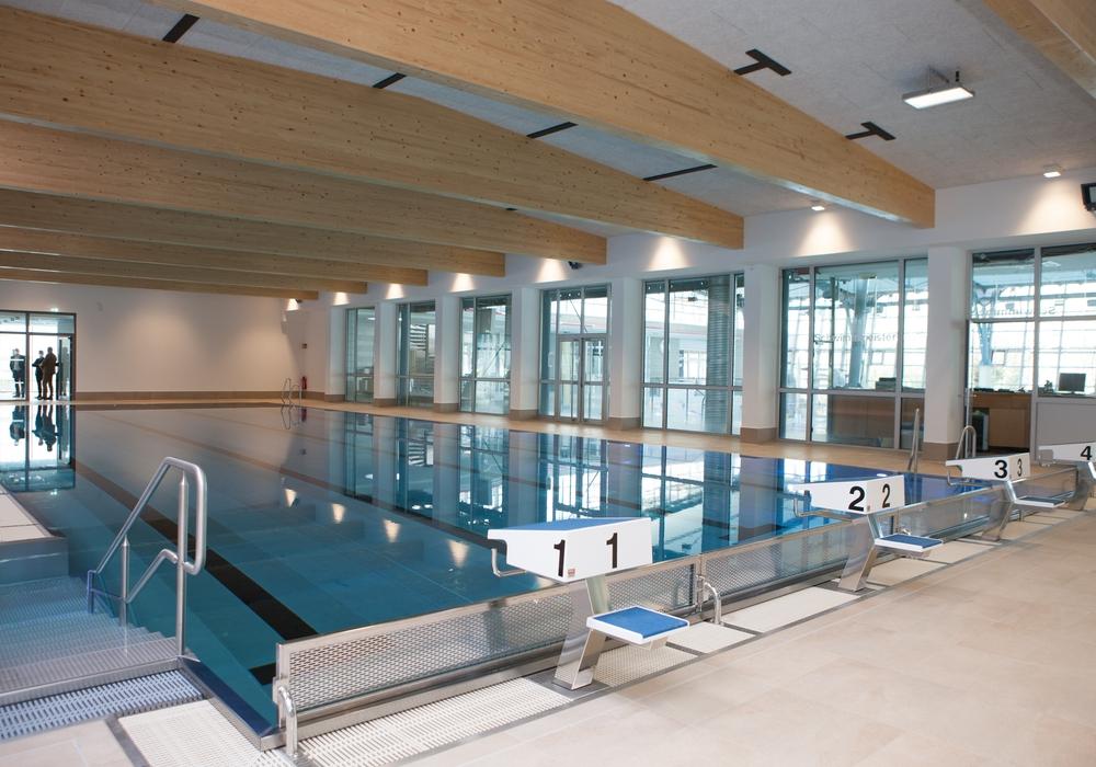 Die Bauarbeiten am Sportbad Heidberg sind abgeschlossen. Öffnen darf es aber nicht.