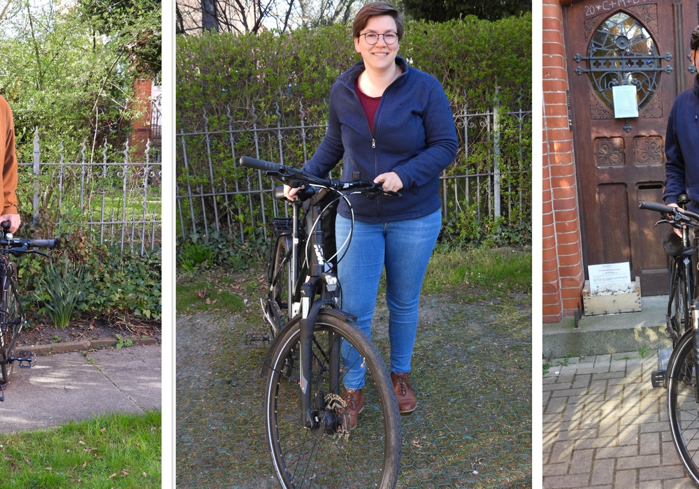 Freuen sich auf die Stadtradel-Touren, von links: Lothar Dreyer, Hannah Stolzenburg und Dr. Volker Menke.