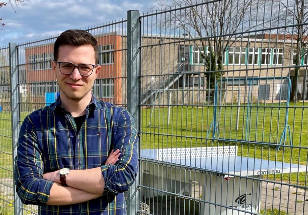 Max Weitemeier, Direktkandidat der FDP für den Wahlkreis 49 und stellvertretender Landesvorsitzender der Jungen Liberalen.