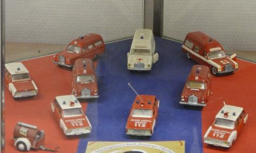 Einige der Modellfahrzeuge des verstorbenen Gerhard Schlie.