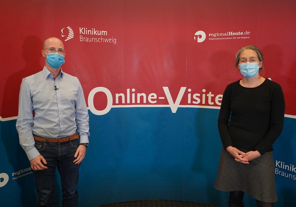 Dipl. Psychologe Arne Schmid und Dr. Isabelle Lang-Rollin, Oberärztin der Abteilung für Psychosomatik.