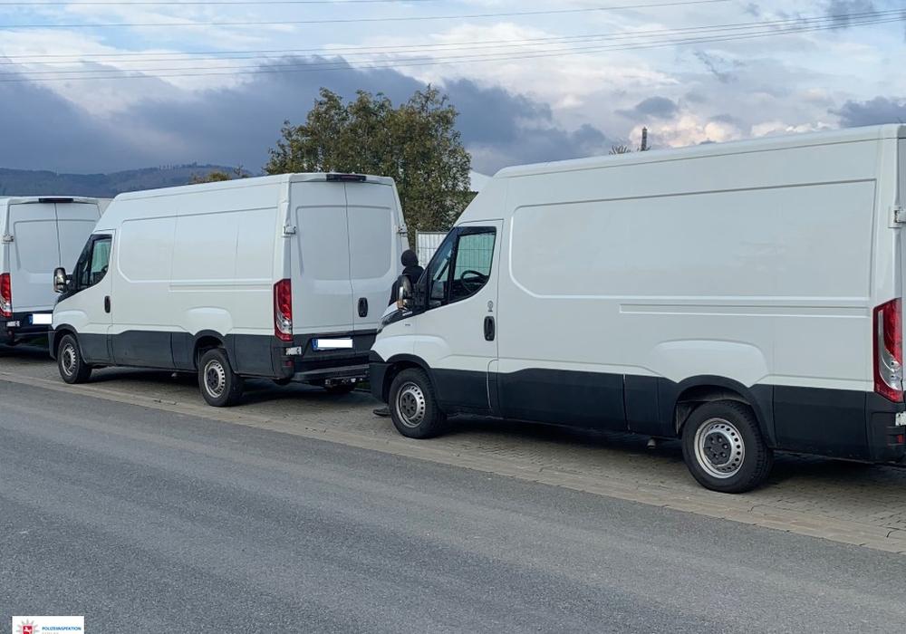 Drei Transporter wurden beschlagnahmt.