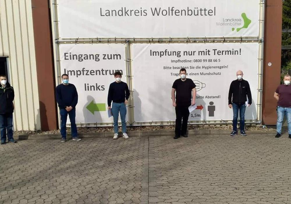 Die ersten Impftermine für die Feuerwehren der Stadt Wolfenbüttel standen an.